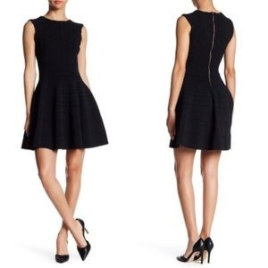 Ted Baker Frinca Textured Knit Flared Black Dress